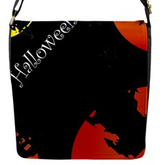 Castil Witch Hlloween Sinister Night Home Bats Flap Messenger Bag (s)