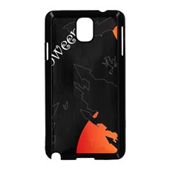 Castil Witch Hlloween Sinister Night Home Bats Samsung Galaxy Note 3 Neo Hardshell Case (black)