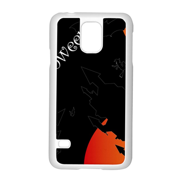 Castil Witch Hlloween Sinister Night Home Bats Samsung Galaxy S5 Case (White)