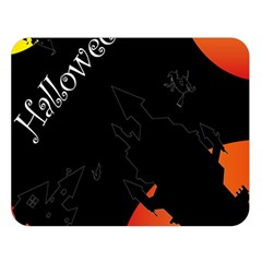 Castil Witch Hlloween Sinister Night Home Bats Double Sided Flano Blanket (large)  by Alisyart