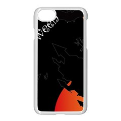 Castil Witch Hlloween Sinister Night Home Bats Apple Iphone 8 Seamless Case (white) by Alisyart