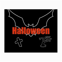 Halloween Bat Black Night Sinister Ghost Small Glasses Cloth (2 Side)