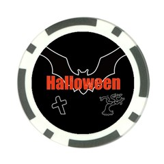 Halloween Bat Black Night Sinister Ghost Poker Chip Card Guard (10 Pack) by Alisyart