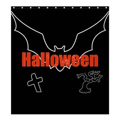 Halloween Bat Black Night Sinister Ghost Shower Curtain 66  X 72  (large)