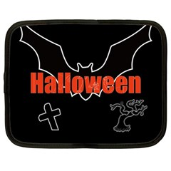 Halloween Bat Black Night Sinister Ghost Netbook Case (xl)