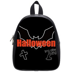 Halloween Bat Black Night Sinister Ghost School Bag (small) by Alisyart