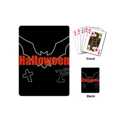 Halloween Bat Black Night Sinister Ghost Playing Cards (mini)  by Alisyart