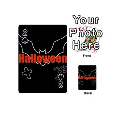 Halloween Bat Black Night Sinister Ghost Playing Cards 54 (mini)  by Alisyart