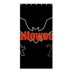 Halloween Bat Black Night Sinister Ghost Shower Curtain 36  X 72  (stall)  by Alisyart
