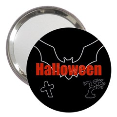 Halloween Bat Black Night Sinister Ghost 3  Handbag Mirrors