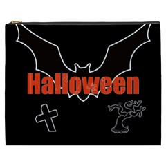 Halloween Bat Black Night Sinister Ghost Cosmetic Bag (xxxl)