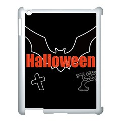 Halloween Bat Black Night Sinister Ghost Apple Ipad 3/4 Case (white)
