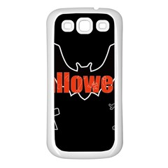 Halloween Bat Black Night Sinister Ghost Samsung Galaxy S3 Back Case (white)