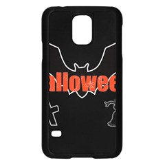 Halloween Bat Black Night Sinister Ghost Samsung Galaxy S5 Case (black) by Alisyart