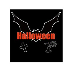 Halloween Bat Black Night Sinister Ghost Small Satin Scarf (square) by Alisyart