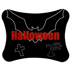 Halloween Bat Black Night Sinister Ghost Jigsaw Puzzle Photo Stand (bow)