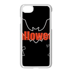 Halloween Bat Black Night Sinister Ghost Apple Iphone 8 Seamless Case (white) by Alisyart