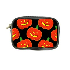 Halloween Party Pumpkins Face Smile Ghost Orange Black Coin Purse by Alisyart