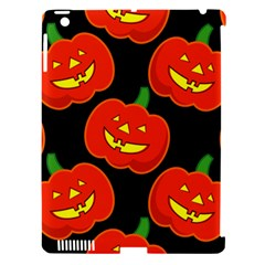 Halloween Party Pumpkins Face Smile Ghost Orange Black Apple Ipad 3/4 Hardshell Case (compatible With Smart Cover) by Alisyart