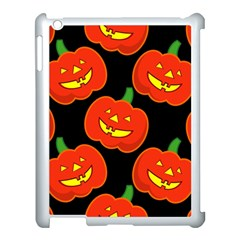 Halloween Party Pumpkins Face Smile Ghost Orange Black Apple Ipad 3/4 Case (white)