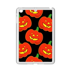 Halloween Party Pumpkins Face Smile Ghost Orange Black Ipad Mini 2 Enamel Coated Cases