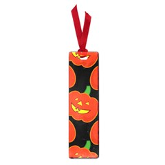 Halloween Party Pumpkins Face Smile Ghost Orange Black Small Book Marks by Alisyart
