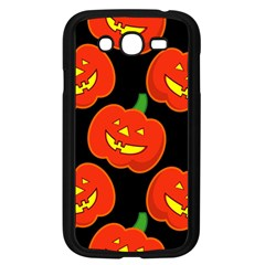 Halloween Party Pumpkins Face Smile Ghost Orange Black Samsung Galaxy Grand Duos I9082 Case (black) by Alisyart