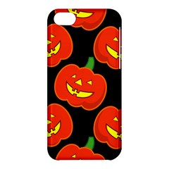 Halloween Party Pumpkins Face Smile Ghost Orange Black Apple Iphone 5c Hardshell Case by Alisyart
