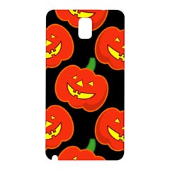 Halloween Party Pumpkins Face Smile Ghost Orange Black Samsung Galaxy Note 3 N9005 Hardshell Back Case by Alisyart