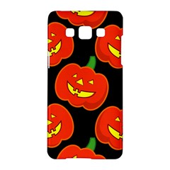 Halloween Party Pumpkins Face Smile Ghost Orange Black Samsung Galaxy A5 Hardshell Case  by Alisyart