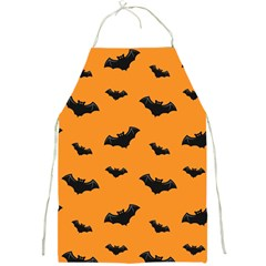 Halloween Bat Animals Night Orange Full Print Aprons by Alisyart