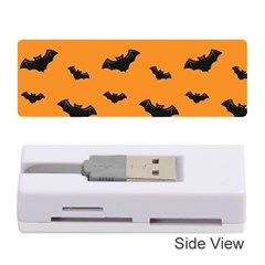 Halloween Bat Animals Night Orange Memory Card Reader (stick)