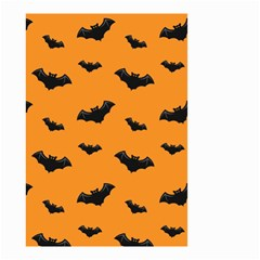 Halloween Bat Animals Night Orange Small Garden Flag (two Sides) by Alisyart