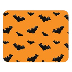 Halloween Bat Animals Night Orange Double Sided Flano Blanket (large)  by Alisyart
