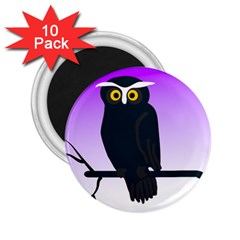 Halloween Owl Bird Animals Night 2 25  Magnets (10 Pack)  by Alisyart