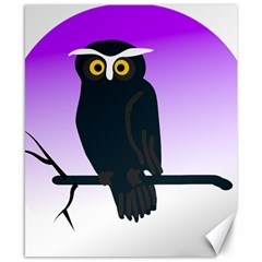 Halloween Owl Bird Animals Night Canvas 8  X 10