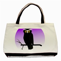 Halloween Owl Bird Animals Night Basic Tote Bag (two Sides) by Alisyart