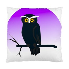 Halloween Owl Bird Animals Night Standard Cushion Case (two Sides) by Alisyart