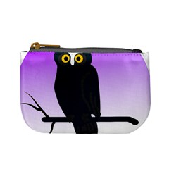 Halloween Owl Bird Animals Night Mini Coin Purses