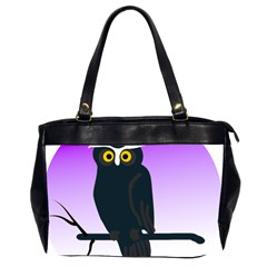 Halloween Owl Bird Animals Night Office Handbags (2 Sides)  by Alisyart
