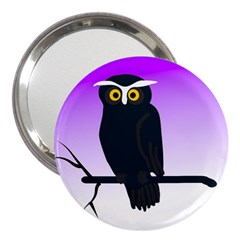 Halloween Owl Bird Animals Night 3  Handbag Mirrors