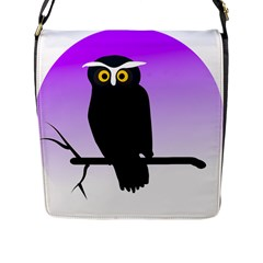 Halloween Owl Bird Animals Night Flap Messenger Bag (l)