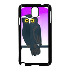 Halloween Owl Bird Animals Night Samsung Galaxy Note 3 Neo Hardshell Case (black)
