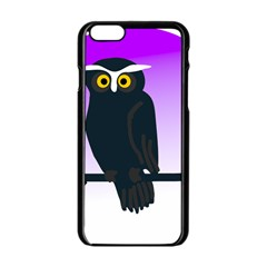 Halloween Owl Bird Animals Night Apple Iphone 6/6s Black Enamel Case by Alisyart