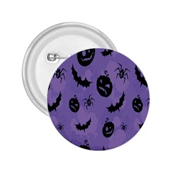 Halloween Pumpkin Bat Spider Purple Black Ghost Smile 2 25  Buttons