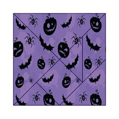 Halloween Pumpkin Bat Spider Purple Black Ghost Smile Acrylic Tangram Puzzle (6  X 6 )