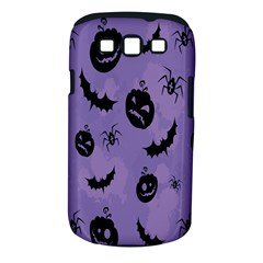Halloween Pumpkin Bat Spider Purple Black Ghost Smile Samsung Galaxy S Iii Classic Hardshell Case (pc+silicone)