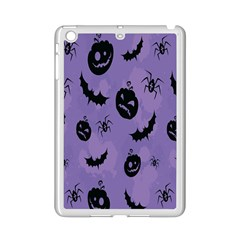 Halloween Pumpkin Bat Spider Purple Black Ghost Smile Ipad Mini 2 Enamel Coated Cases