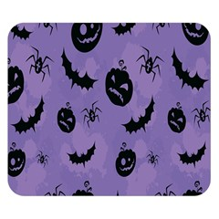 Halloween Pumpkin Bat Spider Purple Black Ghost Smile Double Sided Flano Blanket (small)