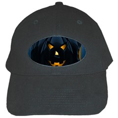 Halloween Pumpkin Dark Face Mask Smile Ghost Night Black Cap by Alisyart